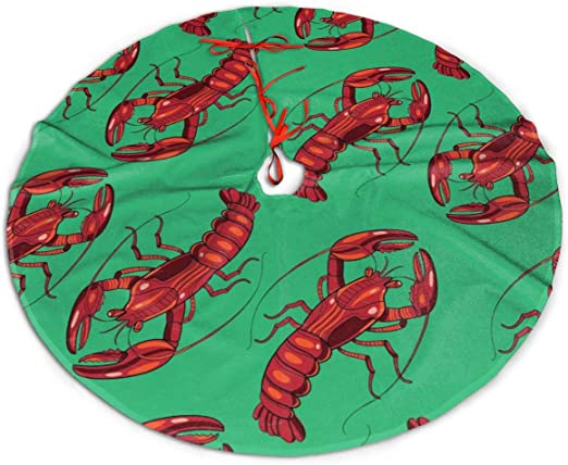 2020 I Red Lobster Open On Christmas Amazon.com: Christmas Tree Skirt, Red Lobster Rustic Or Stylish