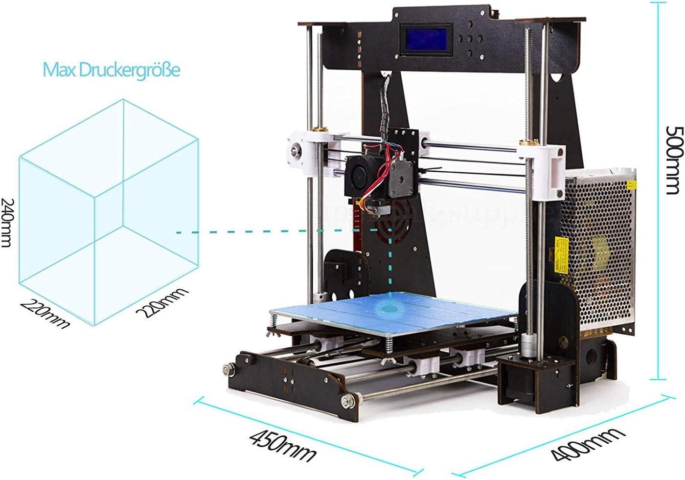 Win-Tinten A8 Madera Upgrade High Precision 3D Printer Reprap ...