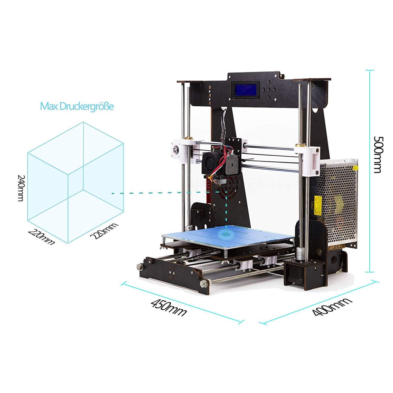 Impresora 3D, CTC A8 DIY Prusa i3 MK8 de Escritorio Actualización ...