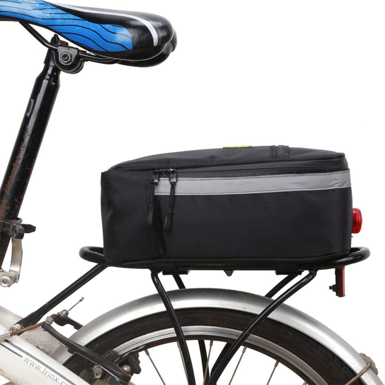 Lorenlli Fit B-Soul Borsa per Bicicletta Posteriore Multifunzionale Borsa per Baule Posteriore Impermeabile Borsa per Bici Posteriore Accessori per Mountain Bike