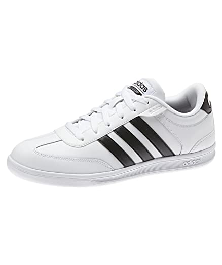 Adidas Vlneo Court Damen Leder Schuhe Sneaker Schwarz X73569