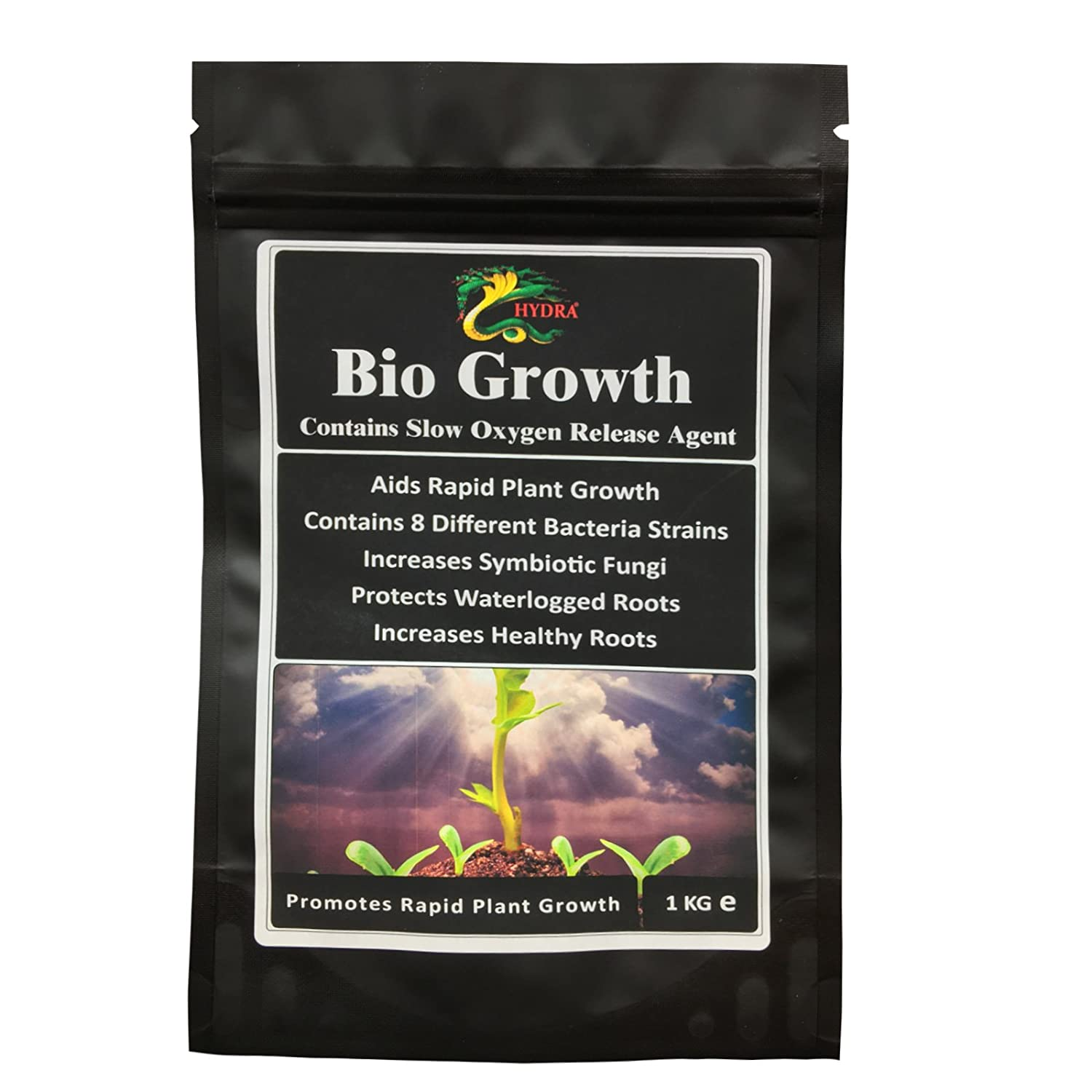 HYDRA BIO GROWTH-1KG-Bioremediation of Soil-Maintain and Protect Healthy Plant Roots Hydra International Ltd