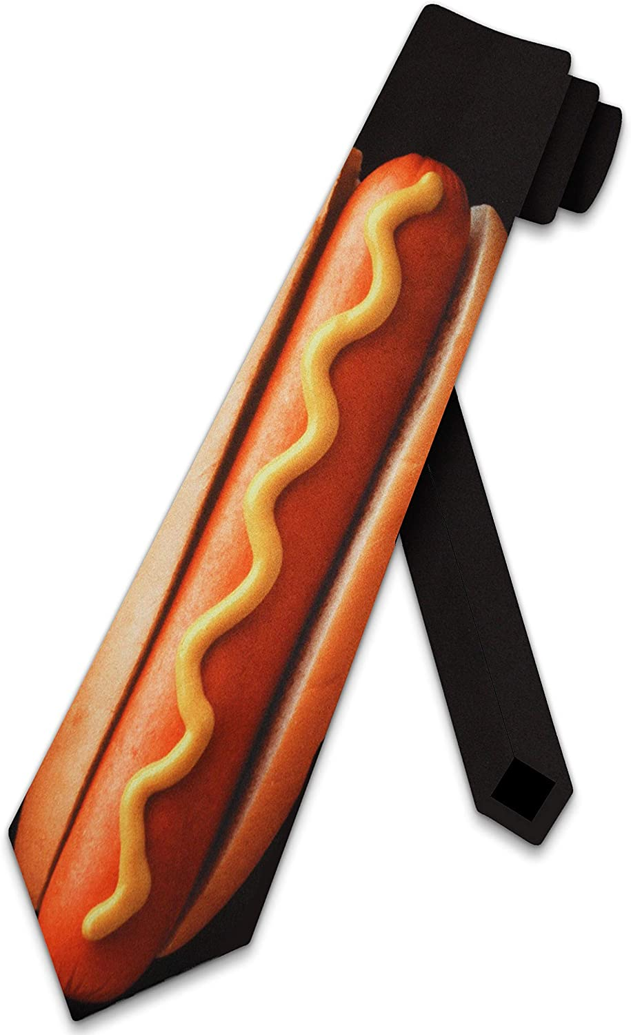 Hot Dog Ties Food Neckties foot long tie Mens Necktie