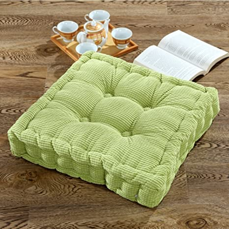 Seat cushion Cojín De Suelo De Pana De Color Sólido,Cuadrado Espesado Suave Cojín De Asiento para Yoga Meditación Oficina Coche Comedor Silla ...