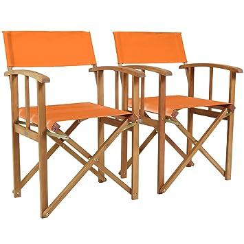 Charles Bentley Par De Directores de madera certificada FSC sillas ...