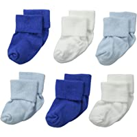 Jefferies Socks Unisex-Baby Newborn Turn Cuff Bootie 6 Pair Pack