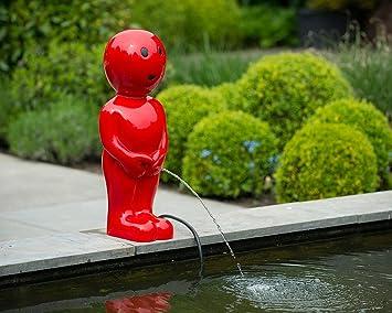 Skulptur Boy Rot H67 Dekoration Fur Teich Oder Terrasse Amazon De