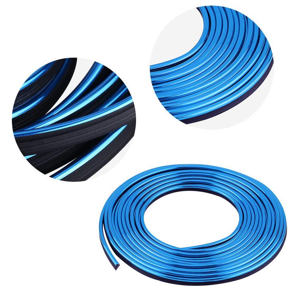 5M 16.4 pies DIY Tiras Adhesivas Retrofit Tira flexible decorativa Interior del coche Decoraci/ón L/ínea de moldura L/ínea de molduras
