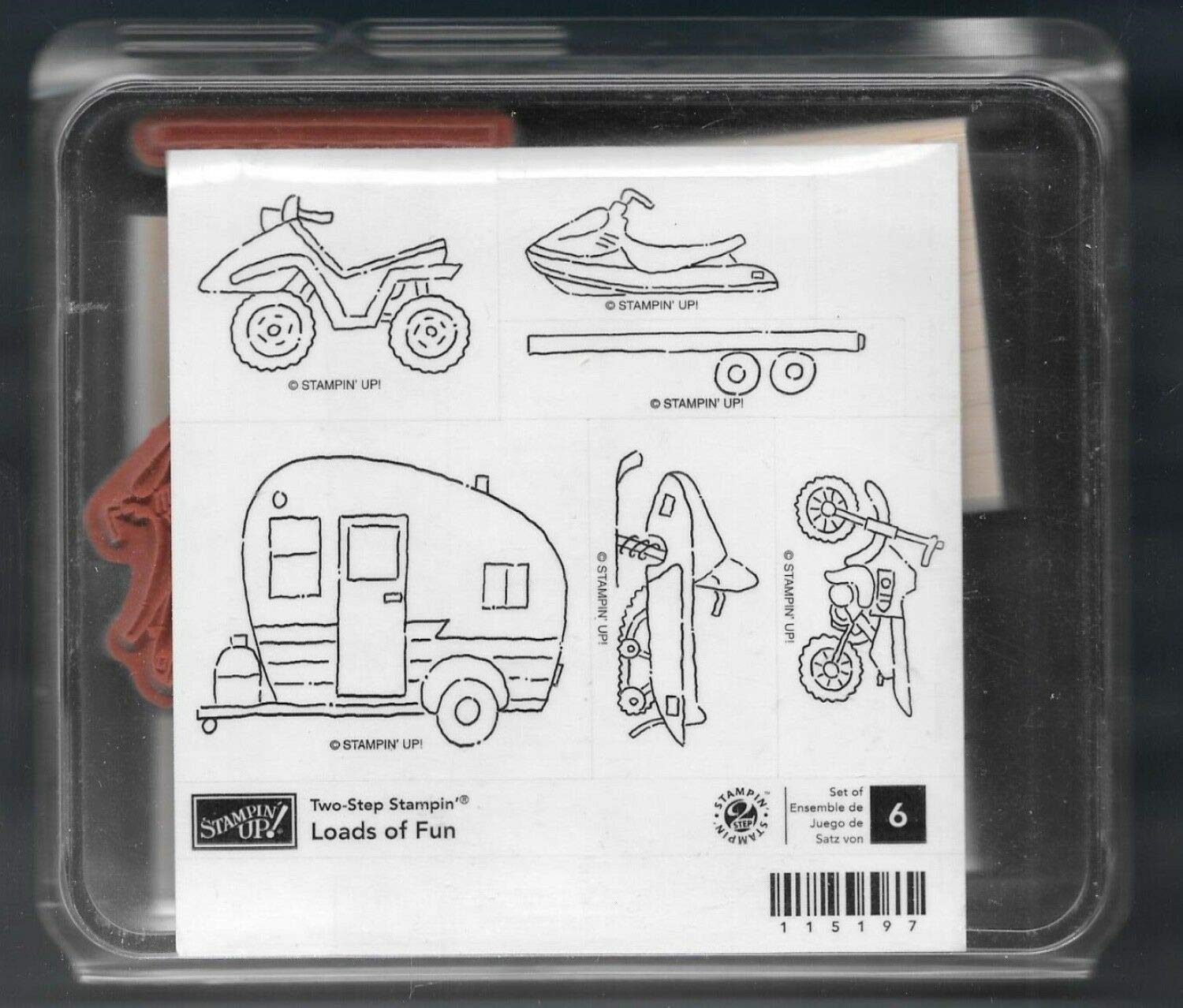 Rubber Stamp Frames Trailer Snowmobile ATV Bike Love Outdoor Loads of Fun Rubber Stamp