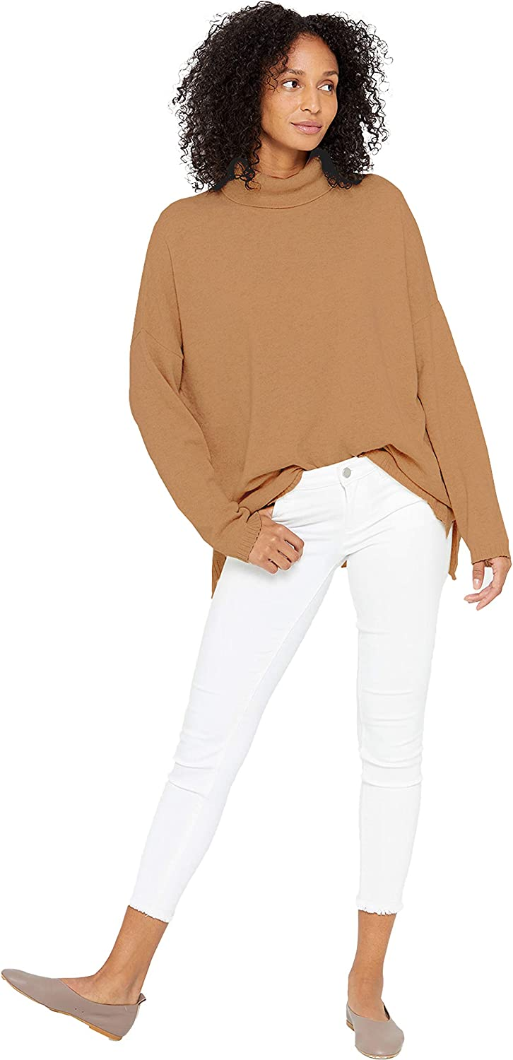 State Cashmere Oversized Turtleneck Tunic Sweater 100% Pure Cashmere Long Sleeve Pullover for Women