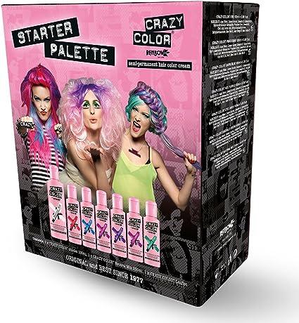 Crazy Color Tinte semipermanente para el cabello, paleta de iniciación