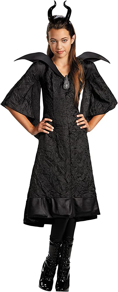 Maleficent Christening Black Gown Classic Costume For Girls