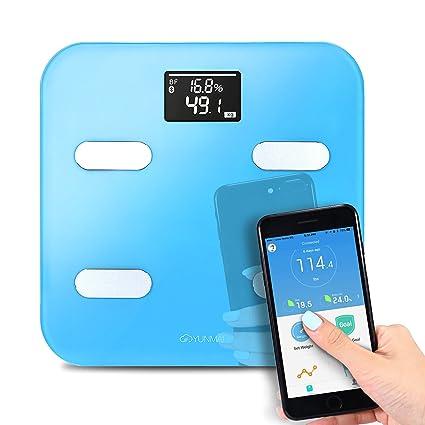 Báscula Smart Bluetooth inalámbrico YUNMAI Báscula Smart Báscula Bluetooth APP gratis compatbile IOS Android 10 precisión