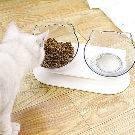 Tazones para Gatos con Soporte Alimentador para Mascotas Juego de ...