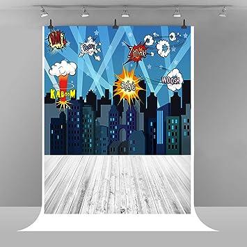 Super Hero City Fotografía Fondo de Dibujo de Dibujos Animados de ...