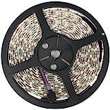DC12V LEDテープライト 単体 フルカラーRGB 防水 5M SMD5050 300連 白ベース 切断可能
