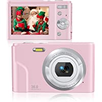 Rosdeca 36 Mega Pixels Digital Video Camera for Photography, 1080P Rechargeable Compact Kids Camera with 16x Digital…
