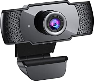 Webcam with Microphone, 1080P HD Streaming USB Computer Webcam [Plug and Play] [30fps] Web Camera for PC Video Streaming, Conference, Gaming, Online Classes, for Windows Mac OS