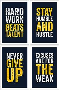 Damdekoli Motivational Posters - 11x17 Inches, Set