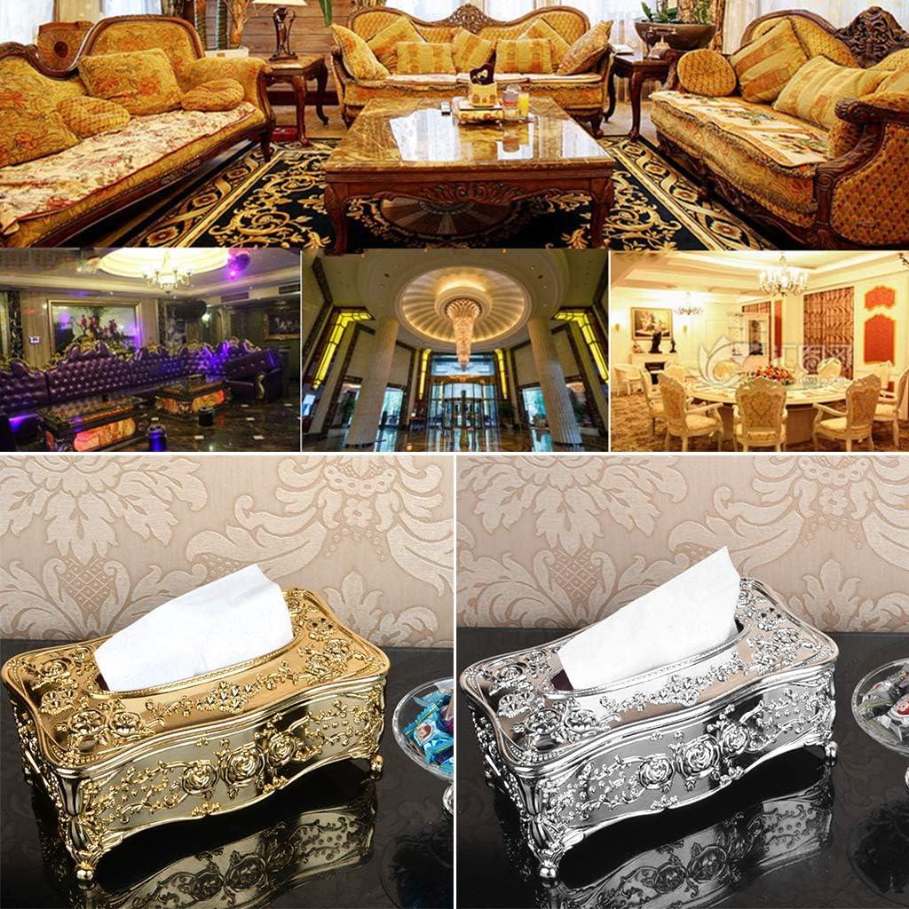smallJUN Tissue Box European Lliving Room Creativo Bookbox Luxury Household Paper Box KTV Tavolino Semplice Simpatico portatovagliolo Gold
