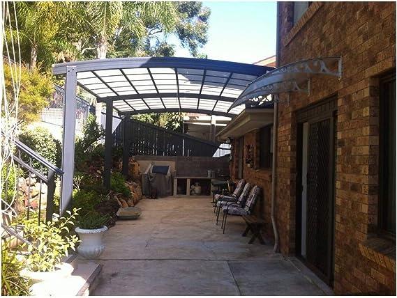 Metal al aire libre Patio toldo toldo marquesina toldo Patio, Patio de aluminio Shade cámaras de seguridad y montaje techo: Amazon.es: Jardín