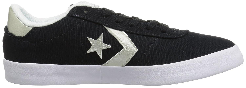 Converse Women's Point Star Low Top Sneaker B07CR7XXM9 10.5 B(M) US|Black/White/Gold