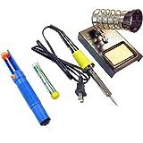 30W Soldering Iron Set (TL-ZS-BP9301): De-soldering Pump, Stand, Additional Solder