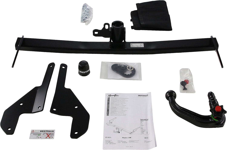 10//2013- Westfalia-Automotive 343074600001 Detachable Swan Neck Towbar for Mazda 3 Hatchback