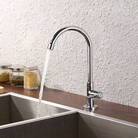 KES Lead-Free Kitchen Sink Faucet For Cold Water Only Single ...