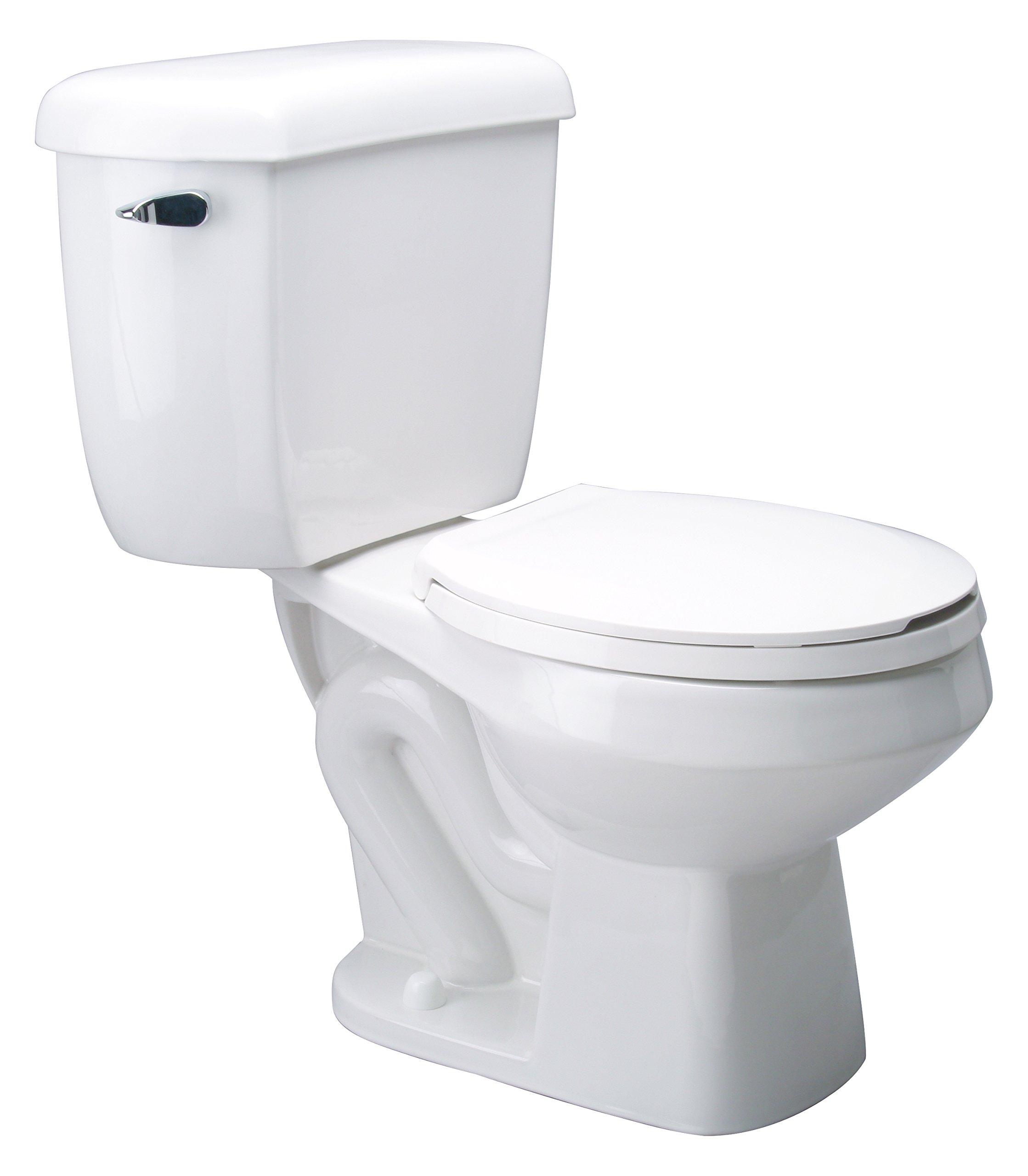 Zurn Z5577 Dual Flush, Round Front Pressure Assist, 1.6/1.0 gpf, Two-Piece Toilet
