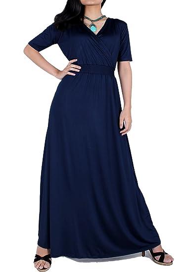 Plus Size Maxi Dress Black Lace Party Wedding Guest Formal Long