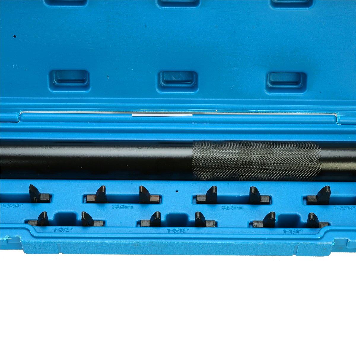 8MILELAKE Auto Car Truck Inner Tie Rod Tool Installer Remover Crews Foot Wrench Kit W//Case