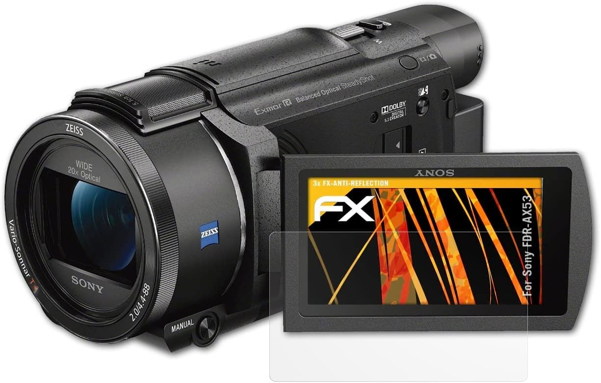 Atfolix Panzerfolie Kompatibel Mit Sony Fdr Ax53 Kamera