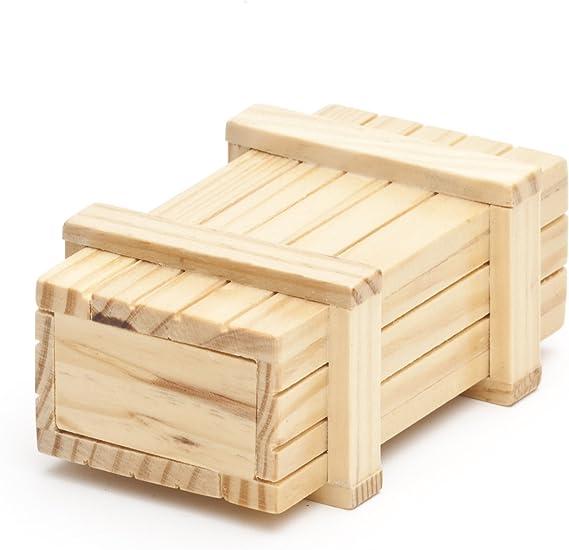 Casa Vivente Caja Regalo Mágica de Madera Clara El Original Juego de Ingenio Caja Regalo 10,5 cm x 6,5 cm x 4 cm: Amazon.es: Juguetes y juegos