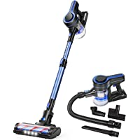 APOSEN Cordless Vacuum Cleaner, Upgraded 24000pa Stick Vacuum 5 in 1 with 250W Powerful Brushless Motor, Detachable…