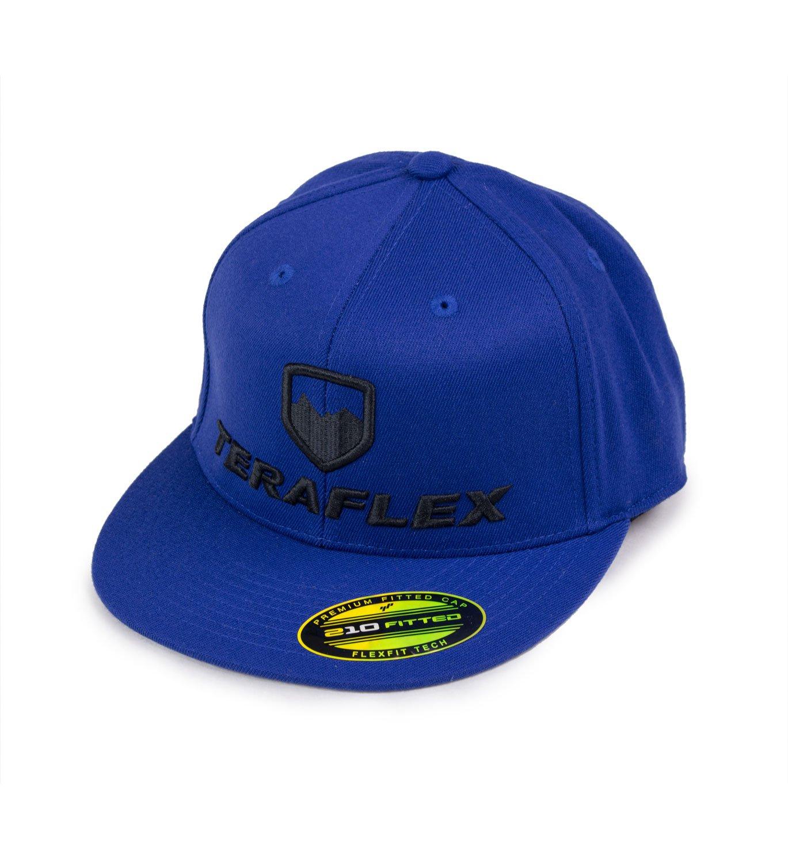 Teraflex 5237026 Hat Premium Flexfit Flat Visor Royal Blue, Small//Medium