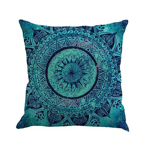 Winwintom Geometría pintura lino funda de Cojin almohada caso sofa (Color A)