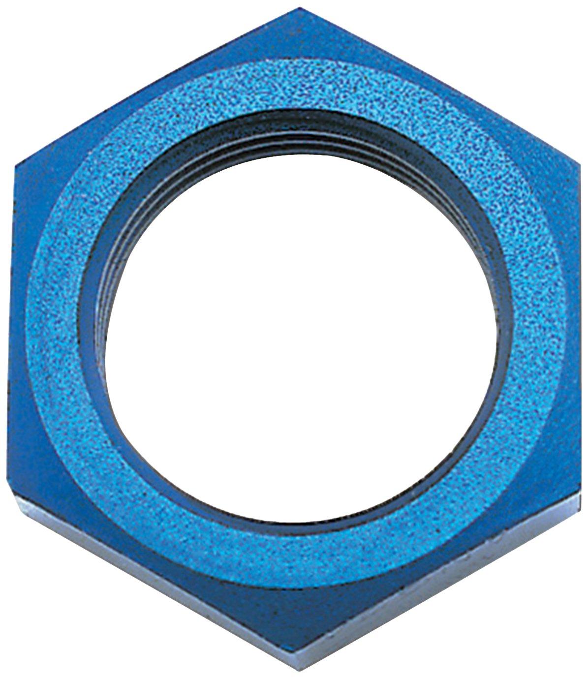 Edelbrock//Russell 661870 Blue Anodized Aluminum 3AN Bulkhead Nut RUS-661870