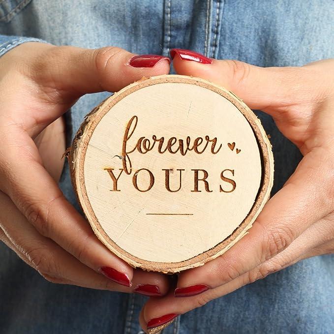 Amazon.com: Koyal - Caja de madera para anillos de ...