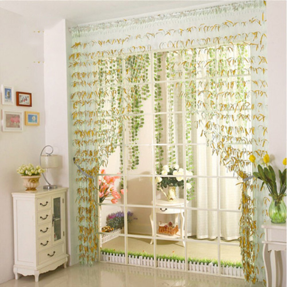 Amazon.com: LJ&XJ Willow Shape Color Thread Door Curtain,Decoration ...