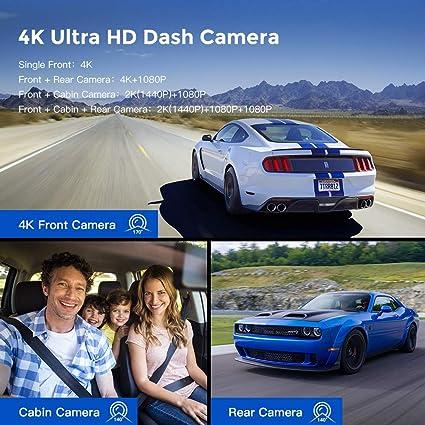 Azdome 3 Linse Dashcam 1440p Dual 1080p Autokamera Elektronik