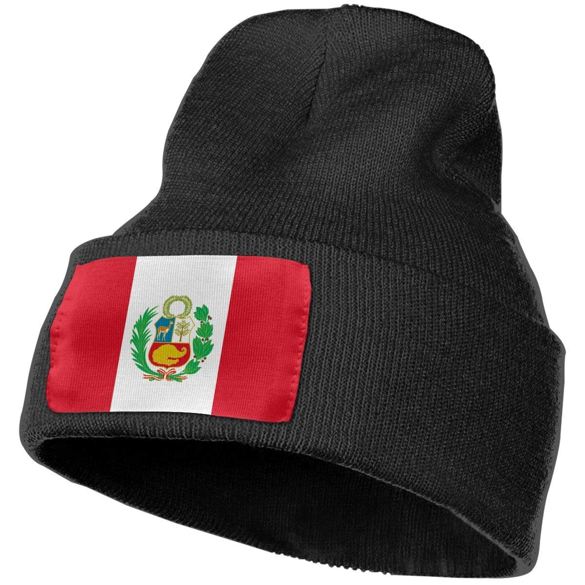 CVDGSAD Gorras de Calavera para Adultos Bandera de Perú Gorro de ...