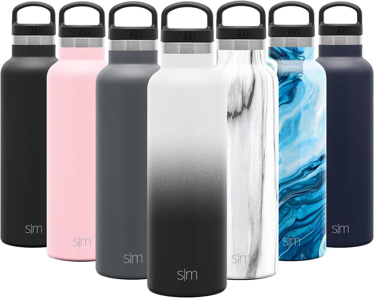 Simple Modern 590mL Ascent Termo Botella de Agua de Acero Inoxidable con Tapa de Asa, Botella termica con Boca Estrecha, aislada al vacío, Doble Pared, sin BPA para Deporte o Viaje, Prueba de Fugas