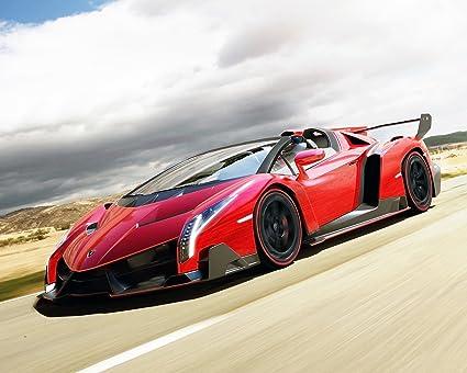 Amazon.com: Lamborghini Veneno Póster de coche cartel ...