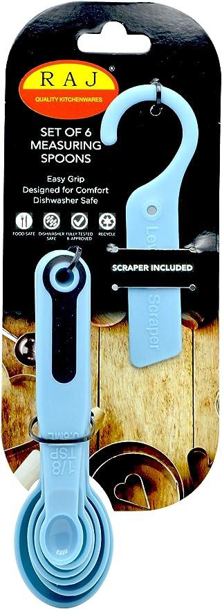 Raj-TMSP02-BLUE, PLASTIC MEASURING SPOON 6 PCS SET, Blue: Buy Online at Best Price in UAE - Amazon.ae