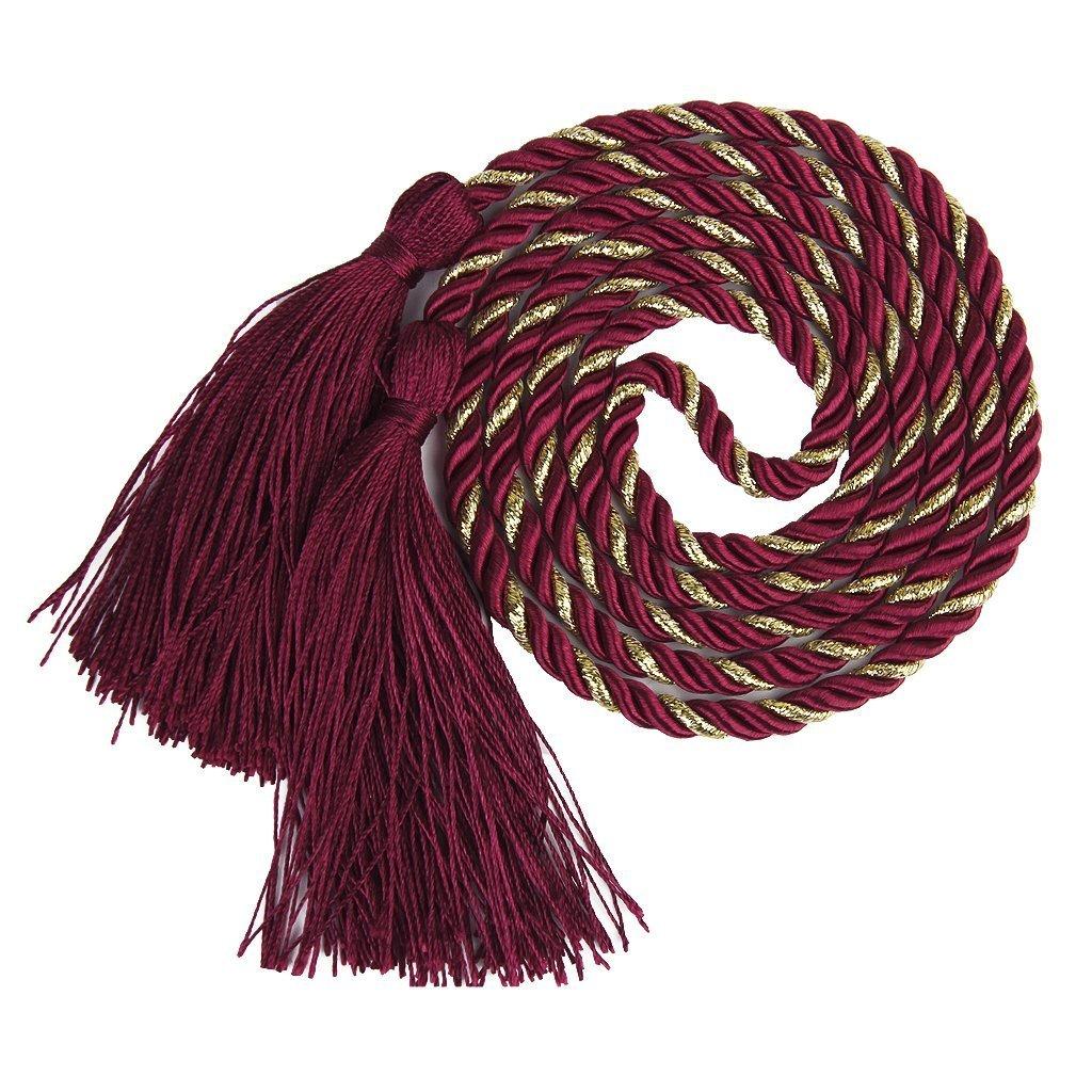 ma-on fermatende nappa soggiorno camera decorazione tenda corda 2PCS (vino rosso)