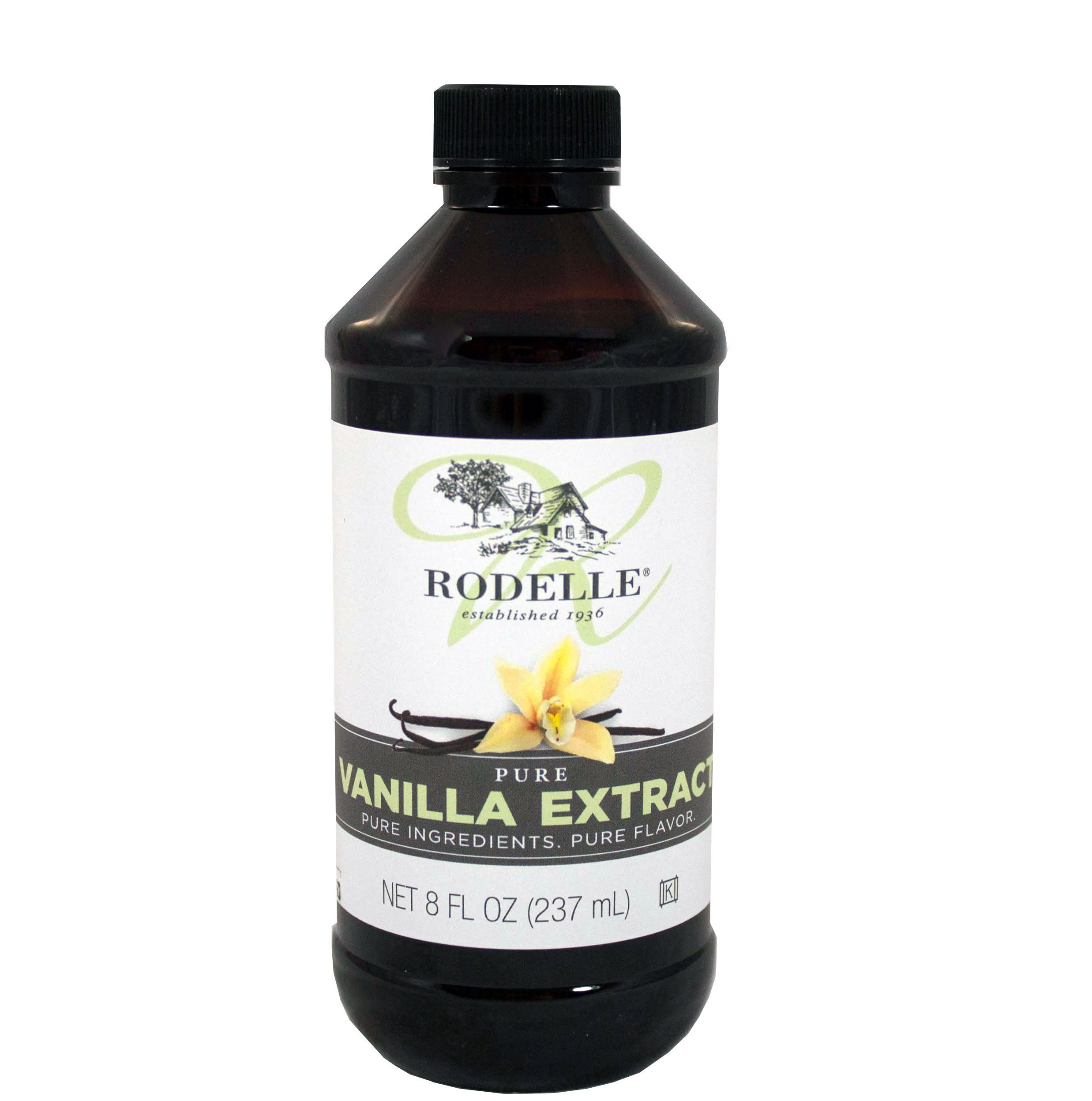 Rodelle Pure Vanilla Extract, 8-Ounce (Pack of 12)