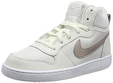 new style 40cc4 25f00 Nike Court Borough Mid (GS), Chaussures de Basketball Fille, Blanc (Phantom