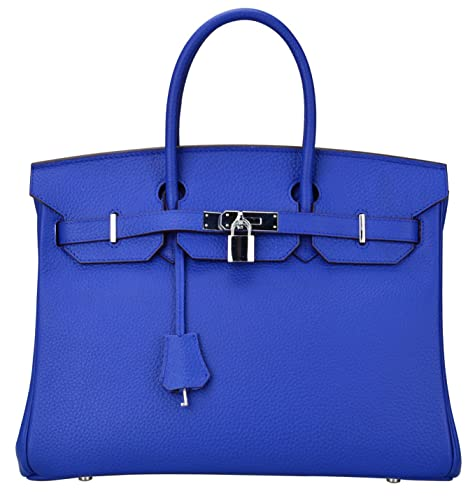 Ainifeel Women's Padlock Handbags with Silver Hardware