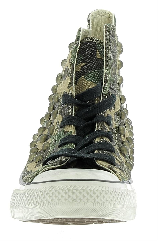 Converse Ctas Distressed Hi Gothic Chaussures Camouflage 160993C (37.5, Vert)